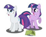 Twilight Sparkle spells mane changing