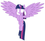 Alicorn Twilight Sparkle glowing eyes by artist-peachspices