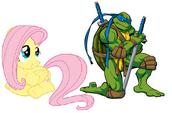 Leonardo and Fluttershy