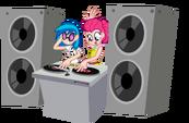 Love is in Bloom Pinkie Pie and Vinyl Scratch by Trinityinyang