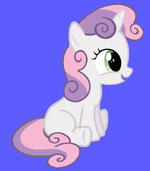 Sweetie Belle Blue Background