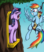 Twilight Sparkle and Rainbow Dash by artist-mattings