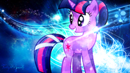 Twilight Sparkle crystallized wallpaper by artist-signumde