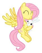 Fluttershy hugging Angel