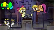 Cutie Mark Crusaders assembling the Silver Monkey