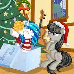Vinyl Scratch surprised Octavia in a gift by artist-happyksu