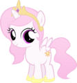 Celestia Filly, Except Pink by MoongazePonies.png