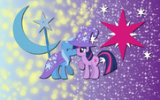 Twilight Sparkle and Trxie shipping wallpaper by artist-alicehumansacrifice0