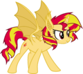 Sunset Shimmer vampire-bat pony by Elsia-pony.png