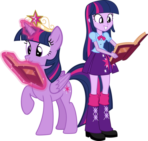 File:Twilight sparkle and twilight sparkle by hampshireukbrony-d6mkmmg.png