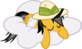 Daring do sleeping on a cloud by KennyKlent.png