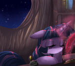 Twilight Sparkle sleepy by artist-crenair