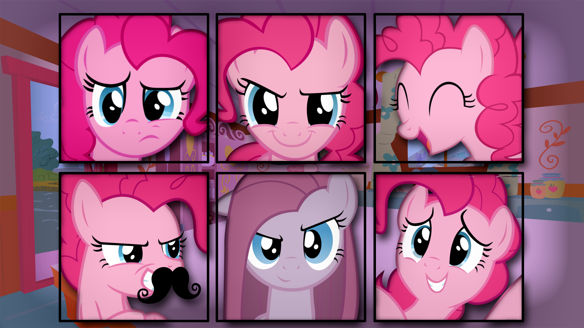 Pinkie Pie Vector Faces Wallpaper By Artist Overmare