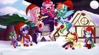Christmas Ponies by artist-reikomuffin
