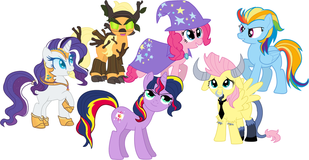 the mane 6 as their enemiespng