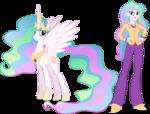 Princess celestia and principal celestia by hampshireukbrony-d6q6x86
