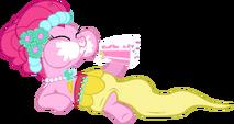 Pinkie Pie eating cake