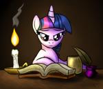 Twilight Sparkle reading by artist-omegasunburst