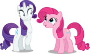 Rarity and Pinkie Pie alternate mane by artist-austiniousi