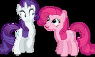 Rarity and Pinkie Pie alternate mane by artist-austiniousi