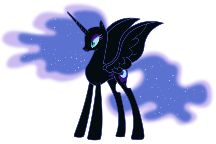 My Little Pony Coloring Pages Nightmare Moon : Image nightmare moon without armor by artist sigma my