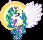 Princess Celestia by artist-buckingawesomeart