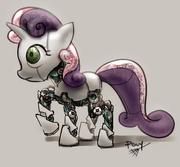 SweetieBot detail by ponyrake