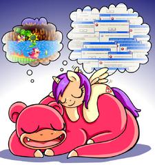 Princess Erroria Slowpoke dreaming