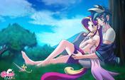 Shining Armor and Princess Cadence by mauroz