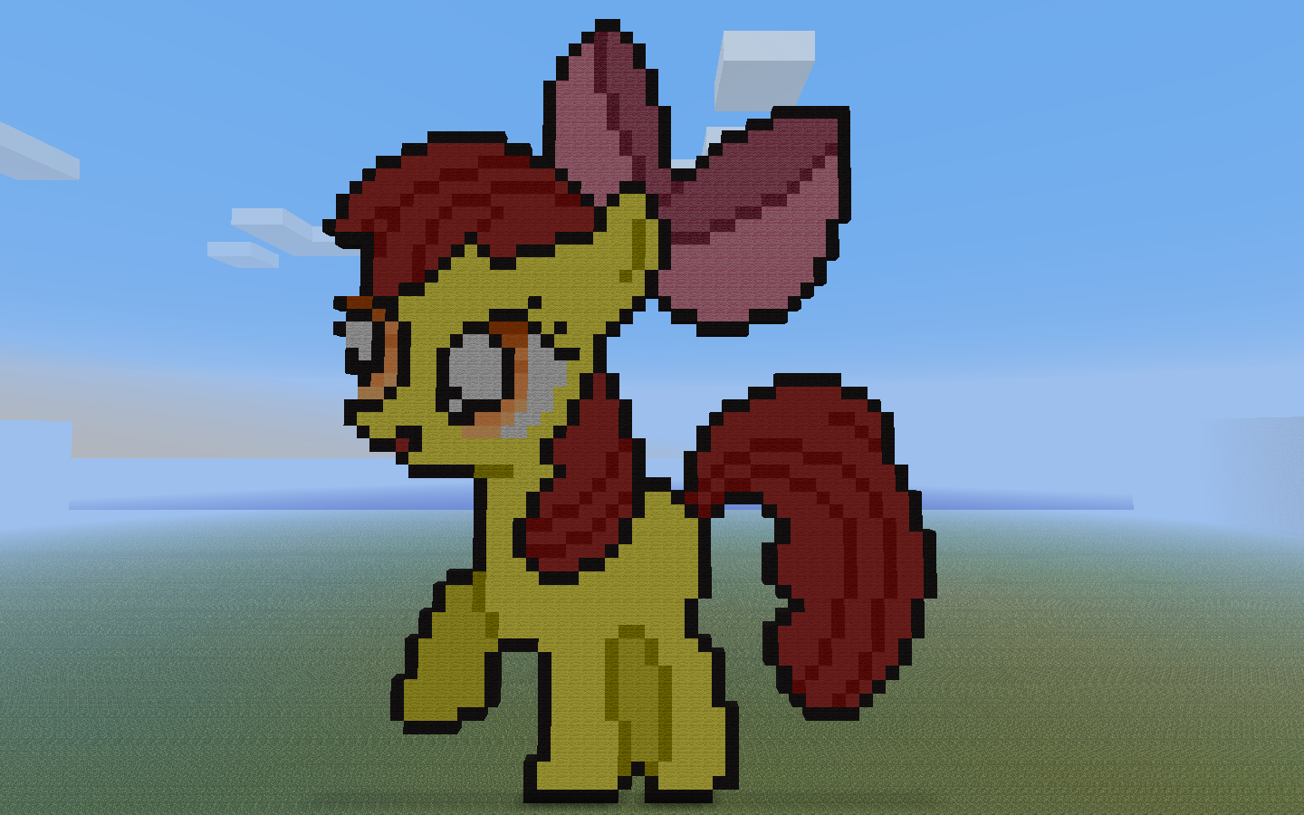 Minecraft Apple Coloring Pages : Image minecraft apple bloom by yukitoshii my little pony