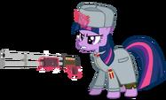 Twilight Sparkle as a USSR sergeant by artist-a4r91n