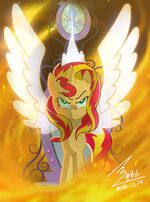 MLP The fall of Sunset Shimmer by 0Bluse