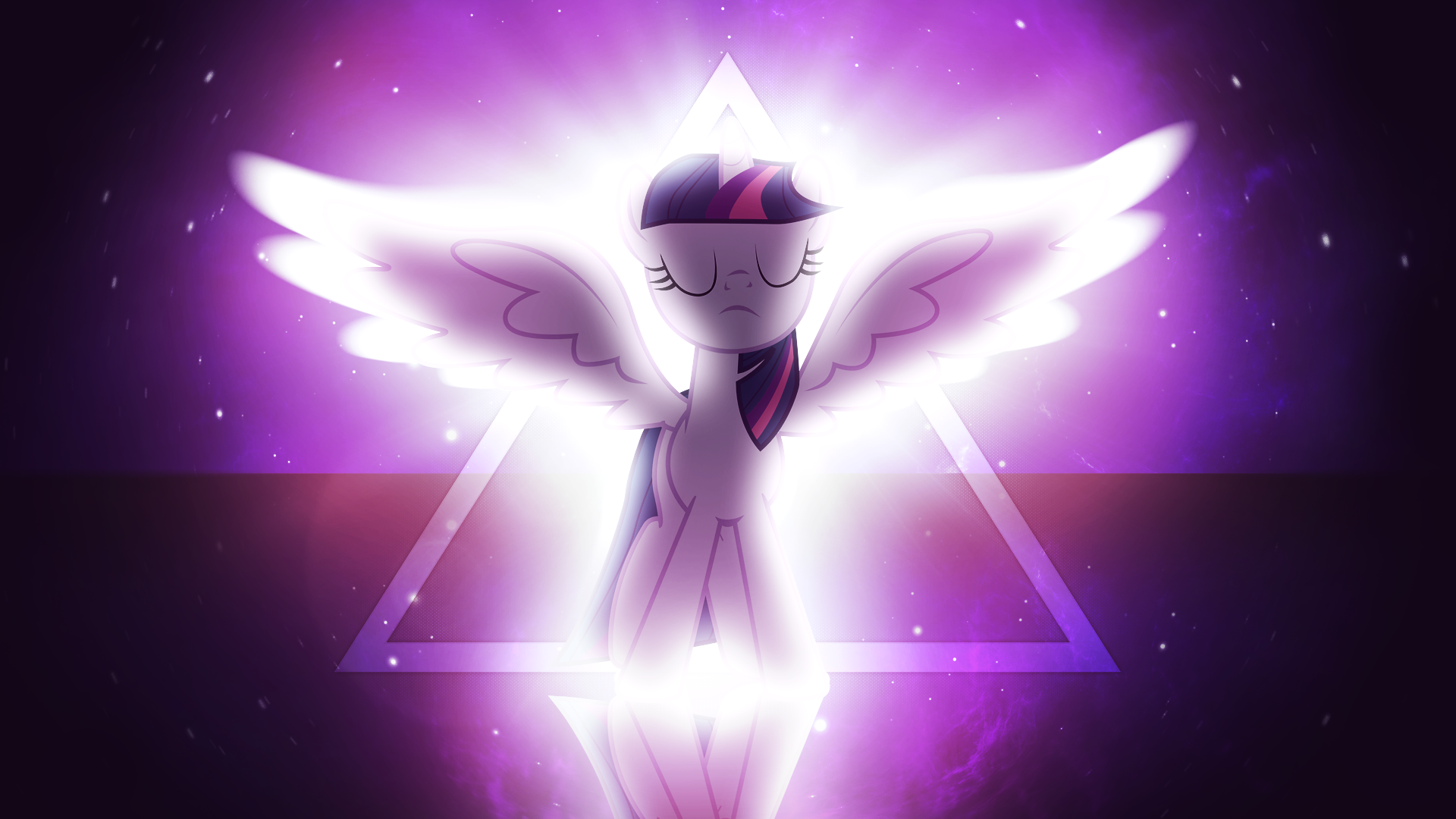 Alicorn Twilight Sparkle Wallpaper By Artist Moldypotato