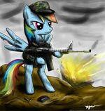 Rainbow Dash the soldier