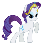 Rarity wearing her own tiara