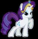 Rarity wearing her own tiara