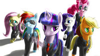 The Mane 6, Suited and Suave by Rautakoura