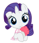 Rarity drinking her strawberry milkshake