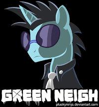 Green Neigh shirt design by PluckyNinja