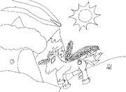 FANMADE Shadow Blaze using magic sketch