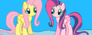 Fluttershy finally meets Puffycake