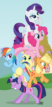 Leaning tower of ponies by tehjadeh-d5jw91q
