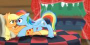 Applejack and Rainbow Dash (Clop)