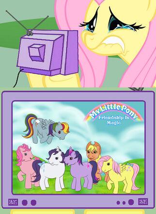 5941 - crying fluttershy fluttershy g1 meme nightmare fuel tv meme