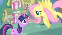 """Twilight and Fluttershy """"where are you off to?"""" S1E17"""