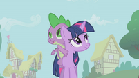 Twilight and Spike looking around S1E09