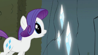 Rarity admiring large gems S2E1