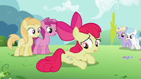 Apple Bloom noticing another cutie mark S2E06