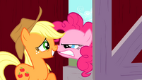 Pinkie Pie angry at Applejack S01E25