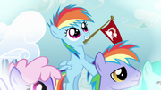 Rainbow Dash with a relative S03E12